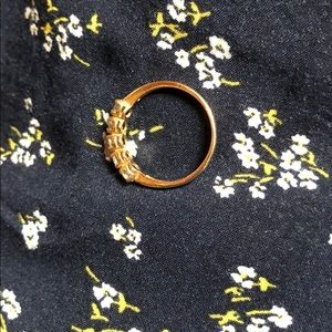 Jewelry - 10k solid gold yellow ring with CZ stones